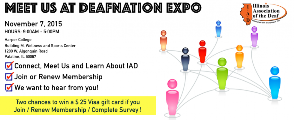 IAD Booth at DeafNation Expo at Harper College – Illinois