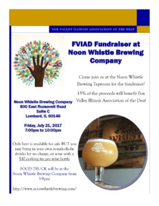 FVIAD Fundraiser @ Noon Whistle Brewing Co @ Noon Whistle Brewing Company | Lombard | Illinois | United States