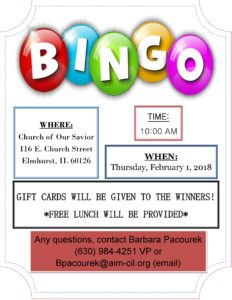 Bingo @ Church of Our Savior  | Elmhurst | Illinois | United States