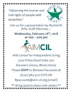 Equip for Equality @ AIM Center for Independent Living  | Downers Grove | Illinois | United States